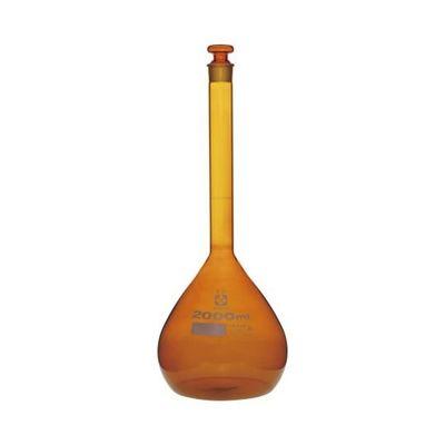 アズワン メスフラスコ (スーパーグレード) 茶 2000mL 1個 6-241-11 (直送品)