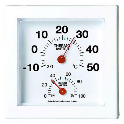 Lemnos ミニ温湿度計 レッド AS09-01RE