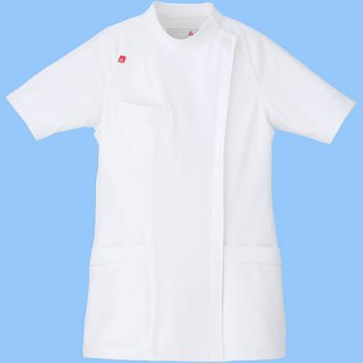 ルコックスポルティフ ナースジャケット レディスジャケット(スタンドカラー ケーシー) UQW1019 ホワイト M