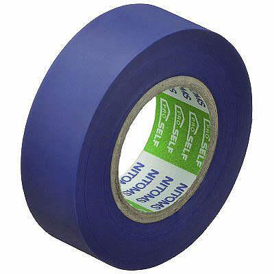 ニトムズ ビニルテープS 青 19mm×10m巻 J2574 1箱(10巻入)