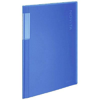 クリヤーブックノビータ固定式 20P 青
