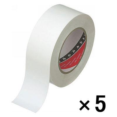 脱塩ビラインテープ白 1パック(5巻入)