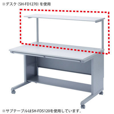 サンワサプライ サブテーブル SH-FD870用 ライトグレー SH-FDS80 (直送品)