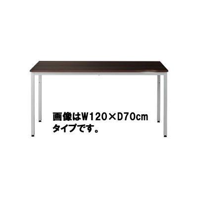 Garage(ガラージ) CLシリーズ デスク 平机 引出し無し 濃茶 幅1000×奥行600×高さ700mm 1台 (直送品)