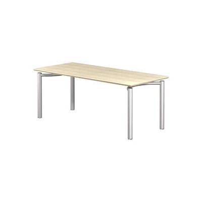 Garage(ガラージ) MEテーブル 53-1M18 平机 白木 幅1800×奥行800×高さ720mm 1台 (直送品)