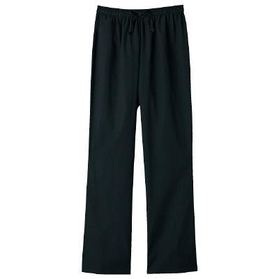 フォーク スクラブパンツ カラーパンツ(男女兼用) 6003SC-9 ブラック LL
