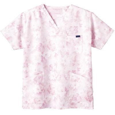 フォーク 花柄スクラブ ピンク 4L 7008SC-3 1枚 (直送品)