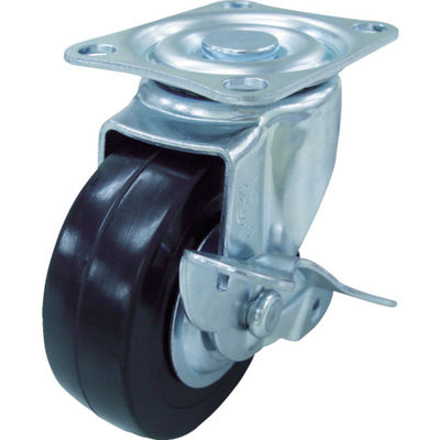 ユーエイキャスター(YUEI CASTER) キャスターS付自在車 ハードゴム車輪径50 SG-50RHS 1個 327-9103 (直送品)