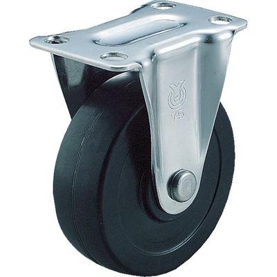 ユーエイキャスター(YUEI CASTER) キャスター固定車 ハードゴム車輪径100 SR-100RH 1個 332-1401 (直送品)