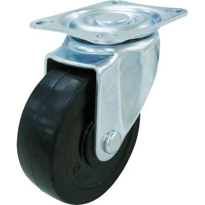ユーエイキャスター(YUEI CASTER) キャスター自在車 ハードゴム車輪径100 SG-100RH 1個 327-9154 (直送品)