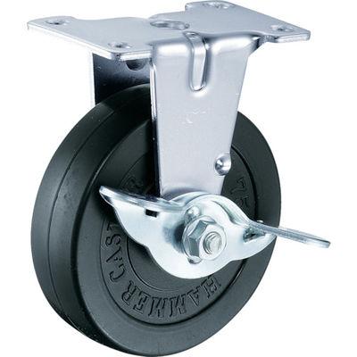 ハンマーキャスター(HAMMER CASTER) E型 固定SP付 ゴム車125mm 415ER-R125-BAR01 1個 319-6003 (直送品)