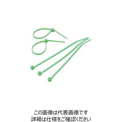 トラスコ中山 使い切り 難燃性 屋内用 カラーケーブルタイ 緑 幅4.8X300mm最大結束Φ83 標準型 TRCVR300S 299-6073 (直送品)
