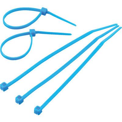 トラスコ中山 使い切り 難燃性 屋内用 カラーケーブルタイ 青 幅4.6X203mm最大結束Φ52 標準型 TRCVR200 299-5972 (直送品)