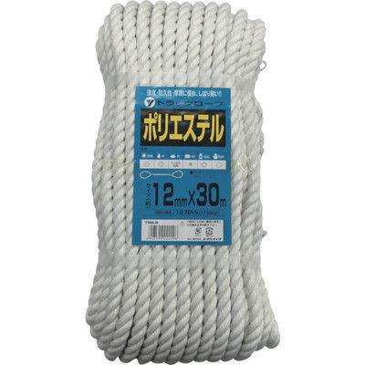 ユタカメイク(Yutaka) ロープ ポリエステルトラックロープ 12mm×30m TRS-6 1個 342-0906 (直送品)