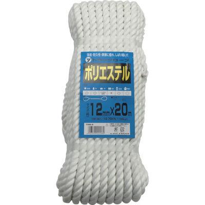 ユタカメイク(Yutaka) ロープ ポリエステルトラックロープ 12mm×20m TRS-5 1個 342-0892 (直送品)