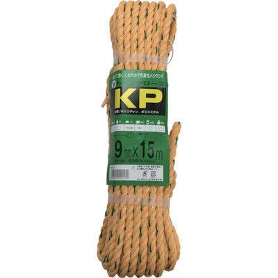ユタカメイク(Yutaka) ユタカメイク ロープ KPトラックロープ(OB) 9×15 TRK-1 1巻(15m) 367-7346 (直送品)