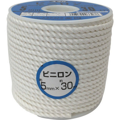 ユタカメイク(Yutaka) ロープ ビニロンロープボビン巻 5φ×30m RV-3 1巻 367-6862 (直送品)
