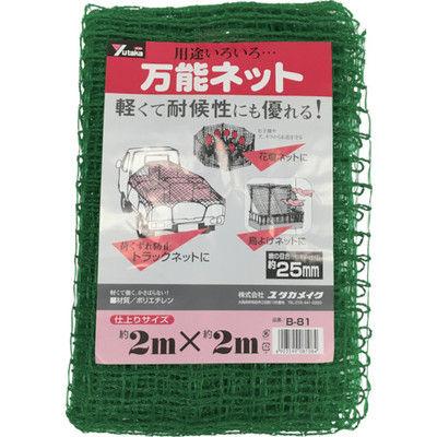ユタカメイク(Yutaka) ネット 万能ネット 2m×2m B-81 1個 367-5173 (直送品)