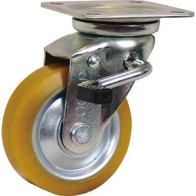 シシクSISIKUアドクライス(株 シシク 静電気帯電防止キャスター 自在ストッパー付100径 ウレタン車輪 EUWJB100 1個 353ー5070(直送品)