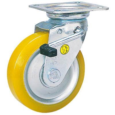 シシクSISIKUアドクライス(株 シシク 静電気帯電防止キャスター 自在ストッパー付130径 ウレタン車輪 EUWJB130 1個 353ー5088(直送品)
