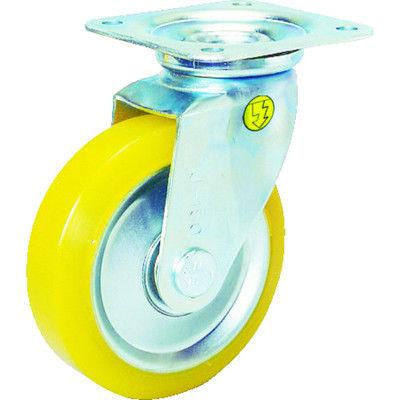 シシクSISIKUアドクライス(株 シシク 静電気帯電防止キャスター ウレタン車輪自在 130径 EUWJ130 1個 353ー5045 (直送品)