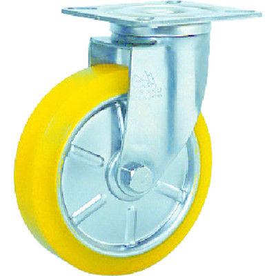 シシクSISIKUアドクライス ステンレスキャスター 制電性ウレタン車輪付自在 SUNJ-100-SEUW 1個 353-5339 (直送品)