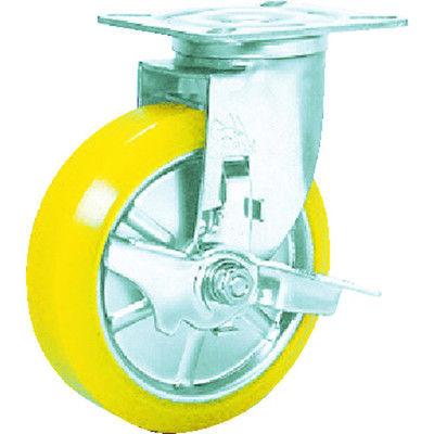 シシクSISIKUアドクライス ステンレスキャスター 制電性ウレタン車輪自在ストッパー付 SUNJB-125-SEUW 1個 353-5398 (直送品)