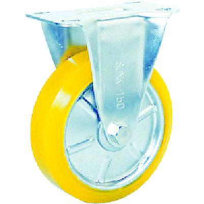 シシクSISIKUアドクライス ステンレスキャスター 制電性ウレタン車輪付固定 SUNK-100-SEUW 1個 353-5436 (直送品)