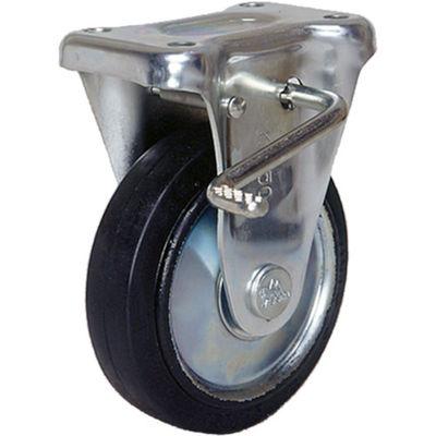 シシクSISIKUアドクライス スタンダードプレスキャスター ゴム車輪 固定ストッパー付 75径 WKB-75 1個 353-5606 (直送品)