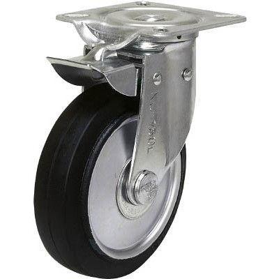 シシクSISIKUアドクライス 自在←→固定切換キャスター ゴム車輪 130径 NJK-130W 1個 353-5746 (直送品)