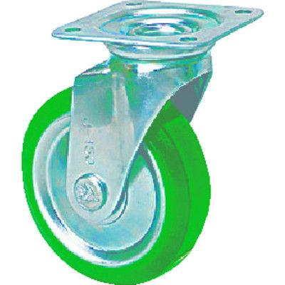 シシクSISIKUアドクライス スタンダードプレスキャスター ウレタン車輪 自在 300径 UWJ-300 1個 356-1542 (直送品)