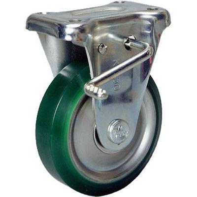 シシクSISIKUアドクライス スタンダードプレスキャスター ウレタン車輪 固定ストッパー付 75径 UWKB-75 1個 353-5533 (直送品)