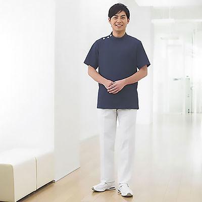 フォーク 男子医務衣(ケーシージャケット) 1010CR-7 ネイビー L