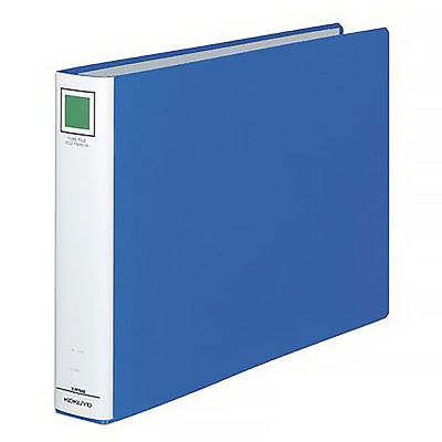 チューブファイル エコツインR B4ヨコ とじ厚40mm 青 コクヨ 両開きパイプ式ファイル フ-RT649B