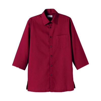 FACE MIX(フェイスミックス) 事務服 ユニセックス 小さいサイズ 長袖ストレッチシャツ ワイン SS (直送品)