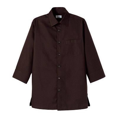 FACE MIX(フェイスミックス) 事務服 ユニセックス 大きいサイズ 長袖ストレッチシャツ ブラウン 3L (直送品)