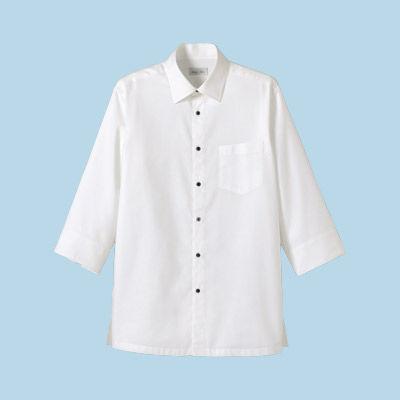 FACE MIX(フェイスミックス) 事務服 ユニセックス 小さいサイズ 長袖ストレッチシャツ ホワイト SS (直送品)