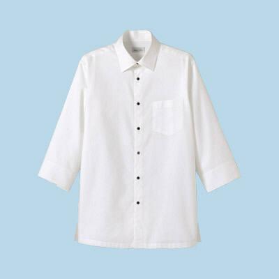 FACE MIX(フェイスミックス) 事務服 ユニセックス 大きいサイズ 長袖ストレッチシャツ ホワイト LL (直送品)