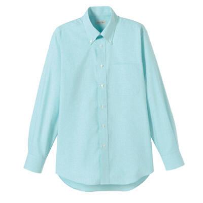 FACE MIX(フェイスミックス) 事務服 ユニセックス 大きいサイズ 長袖シャツ無地 ミント 3L (直送品)