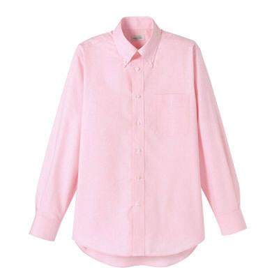 FACE MIX(フェイスミックス) 事務服 ユニセックス 大きいサイズ 長袖シャツ無地 ピンク 4L (直送品)