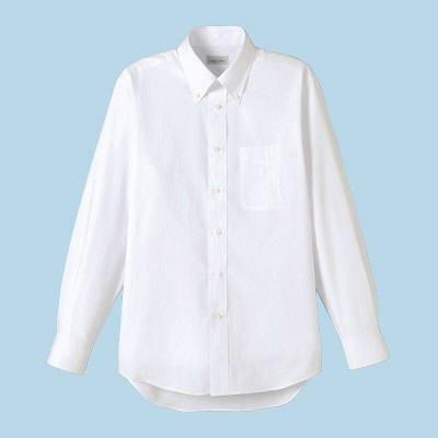 FACE MIX(フェイスミックス) 事務服 ユニセックス 大きいサイズ 長袖シャツ無地 ホワイト 4L (直送品)