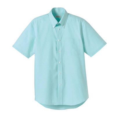 FACE MIX(フェイスミックス) 事務服 ユニセックス 大きいサイズ 半袖シャツ無地 ミント LL (直送品)