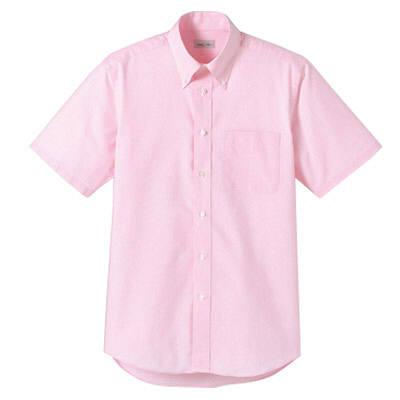 FACE MIX(フェイスミックス) 事務服 ユニセックス 大きいサイズ 半袖シャツ無地 ピンク LL (直送品)