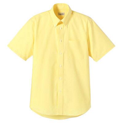 FACE MIX(フェイスミックス) 事務服 ユニセックス 大きいサイズ 半袖シャツ無地 イエロー LL (直送品)