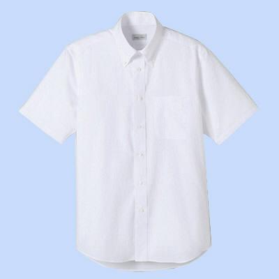 FACE MIX(フェイスミックス) 事務服 ユニセックス 大きいサイズ 半袖シャツ無地 ホワイト 4L (直送品)