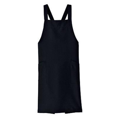 ボンマックス 胸当てエプロン ブラック FK7127-16-F (直送品)