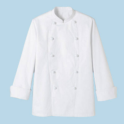 ボンマックス ユニセックスコックコート長袖 ホワイト 5L (直送品)