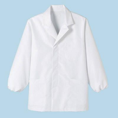 ボンマックス メンズ衿付き和コート長袖 ホワイト LL (直送品)