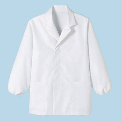 ボンマックス メンズ衿付き和コート長袖 ホワイト 3L (直送品)