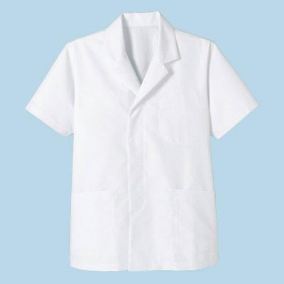 ボンマックス メンズ衿付き和コート半袖 ホワイト LL (直送品)